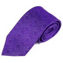 Fialová hedvábná kravata s lehkým vzorkem
