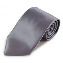 Šedá jednobarevná mikrovláknová kravata