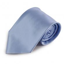 Světle modrá jednobarevná mikrovláknová kravata