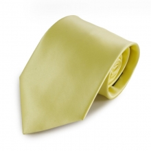 Žlutá jednobarevná mikrovláknová kravata
