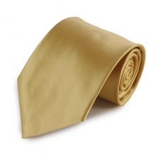Zlatá jednobarevná mikrovláknová kravata