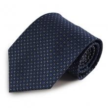 Modrá mikrovláknová kravata se zajímavým vzorem