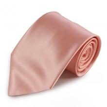 Světle růžová mikrovláknová kravata
