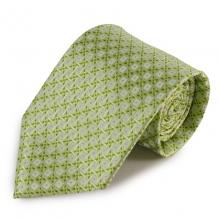 Mikrovláknová kravata se zajímavým vzorem (zelená, bílá)