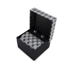 Dárkový set mikrovláknová kravata (šedá, černá))