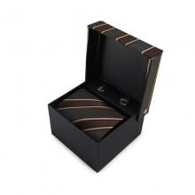 Dárkový set mikrovláknová kravata (hnědá)