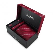 Dárkový set mikrovláknová kravata (červená)