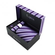 Dárkový set hedvábná kravata (fialová-šeříková)