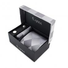 Dárkový set hedvábná kravata (stříbrná)