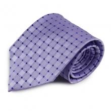 Fialová (šeříková) hedvábná kravata se vzorkem
