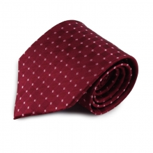 Bordó hedvábná kravata se vzorkem