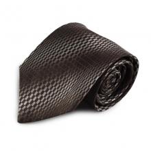 Hnědá hedvábná kravata s barevným přechodem