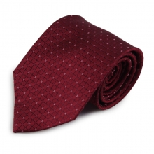 Bordó hedvábná kravata s decentním vzorkem