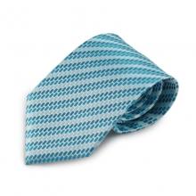 Tyrkysová mikrovláknová kravata se zajímavým vzorem