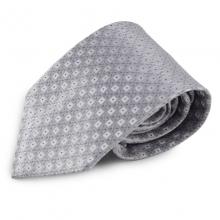 Stříbrná mikrovláknová kravata s atypickým vzorem