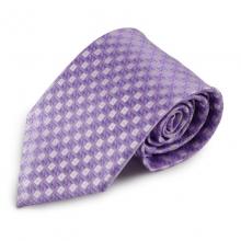 Fialová mikrovláknová kravata s atypickým vzorem