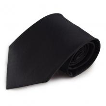 Černá mikrovláknová kravata s decentním vzorkem
