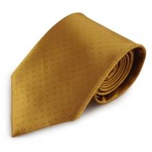 Měděná mikrovláknová kravata s decentním vzorkem