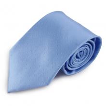Modrá mikrovláknová kravata s decentním vzorkem