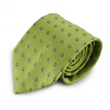 Zelená mikrovláknová kravata s kostičkovým vzorem