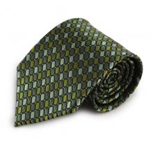Zelená mikrovláknová kravata s atypickým vzorem