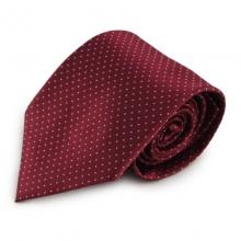Červená (bordó) mikrovláknová kravata s jemným vzorkem