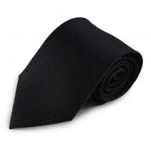 Černá mikrovláknová kravata s jemným vzorkem