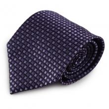 Fialová mikrovláknová kravata se vzorem