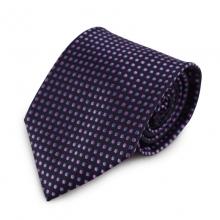 Fialová mikrovláknová kravata s puntíky