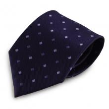 Fialová mikrovláknová kravata s kostičkovým vzorkem