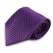 Fialová mikrovláknová kravata s originálním vzorem