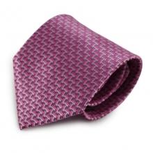 Růžová mikrovláknová kravata s originálním vzorem