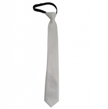 Dětská bílá kravata s jemným vzorkem