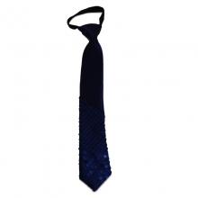 Dětská modrá kravata s lesklými kamínky