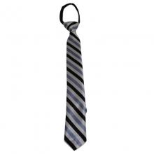 Dětská proužkovaná kravata (modrá, černá, bílá)
