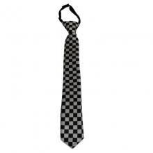 Dětská kostičkovaná kravata (černá, bílá)