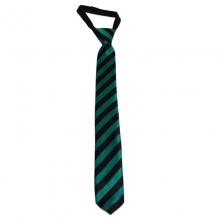 Dětská proužkovaná kravata (černá, zelená)