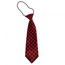 Dětská kostičkovaná kravata (černá, červená)