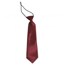 Dětská tmavě červená kravata s kytičkovým vzorem